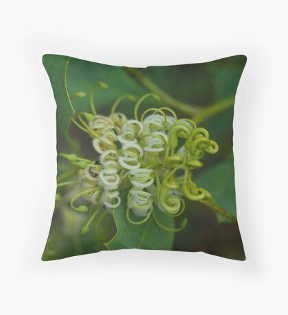 Grevillea prasina Throw Pillow