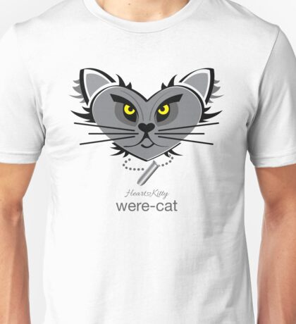HeartKitty Were-Cat Unisex T-Shirt