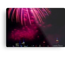 Untitled, ID4 Over the City Hudson Metal Print
