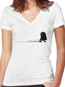R2D2 robot Women's Fitted V-Neck T-Shirt