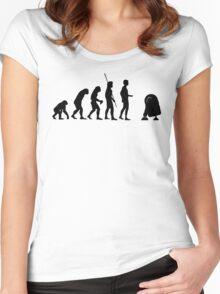 Evolution robot R2D2 Women's Fitted Scoop T-Shirt