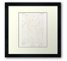 USGS Topo Map Oregon Downey Canyon 279685 1969 24000 Framed Print