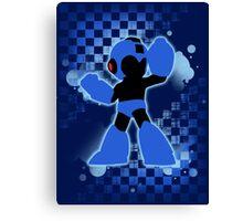 Super Smash Bros. Mega Man Silhouette Canvas Print