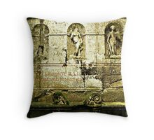 The Three Graces-Parco dei Mostri, Italy Throw Pillow