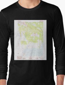 USGS Topo Map California Carr Butte 288984 1988 24000 Long Sleeve T-Shirt