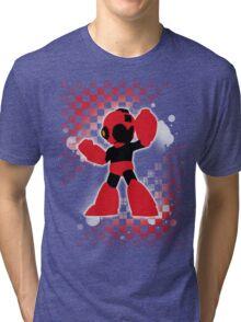 Super Smash Bros. Red Mega Man Silhouette Tri-blend T-Shirt