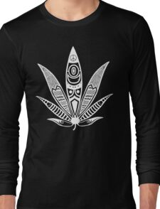 white psychedelic ganja  Long Sleeve T-Shirt