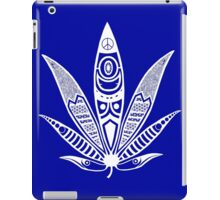 white psychedelic ganja  iPad Case/Skin