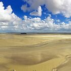 Panorama from Mont St Michel by Ludwig Wagner
