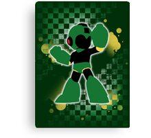 Super Smash Bros. Green Mega Man Silhouette Canvas Print