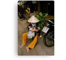 Streets of Ho Chi Minh Canvas Print