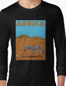 Landscape with Zebra Long Sleeve T-Shirt