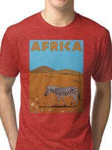Landscape with Zebra Tri-blend T-Shirt