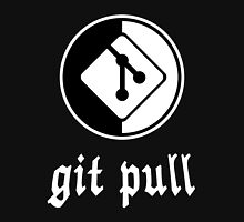 git pull - Black/White Parody Design for Software Developers Men's Baseball ¾ T-Shirt