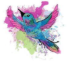 Watercolour Bird Photographic Print