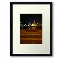 The long crossing Framed Print