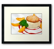 Honey Semifreddo With Almond Biscotti Framed Print
