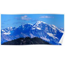 Revelstoke BC Rocky mountains summit  Poster