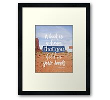 Neil Gaiman quote, Literary Quote Framed Print