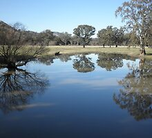 Blue Lagoon, near Gundagai, NSW, Australia. by kaysharp