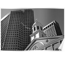City of Boston Series,,,,,The Old and The New  Poster