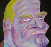 Original Canvas Painting: Rock Jaw Jackson by Daniel Goodman