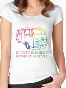 Doing it in style - Retro Dubbers Women's Fitted Scoop T-Shirt