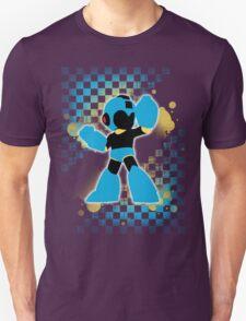 Super Smash Bros. Cyan/Light Blue Mega Man Silhouette T-Shirt