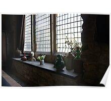 Montsalvat Great Hall window display Poster