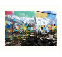 Colorful Sutra Streamer Art Print