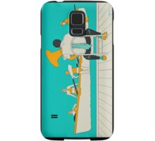 On The Beach - Yellow Shoes, acrylic painting Samsung Galaxy Case/Skin