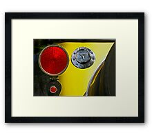 Tail light Framed Print