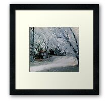 Brush Creek Bridge Infrared Framed Print