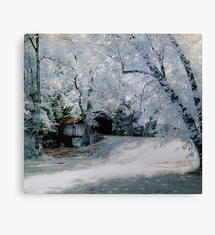 Brush Creek Bridge Infrared Canvas Print