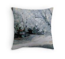 Brush Creek Bridge Infrared Throw Pillow