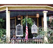 Porch With Bird Cages Photographic Print