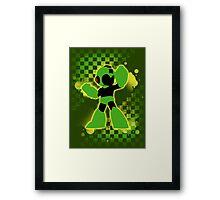 Super Smash Bros. Green/Yellow Mega Man Silhouette Framed Print