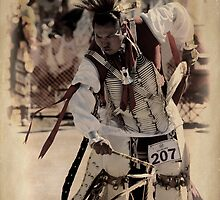 Pow Wow Dancer by Barbara Manis