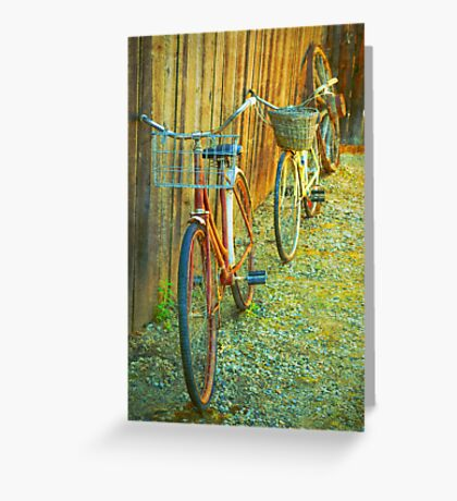 Two Bicycles Greeting Card