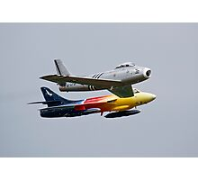 Hawker Hunter F58 Miss Demeanour and F86 Sabre Photographic Print