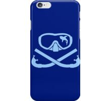 Hai in diving mask with snorkel crossed iPhone Case/Skin