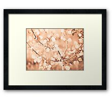 autumn bokeh Framed Print