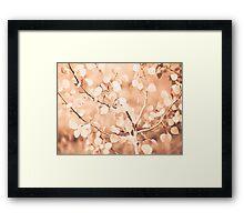 autumn bokeh Framed Print