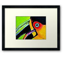 Toucan close up Framed Print