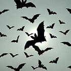 bats and birds in the fog ohhhhhh noooooooo……… by dabadac