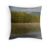 Lake Mist Throw Pillow