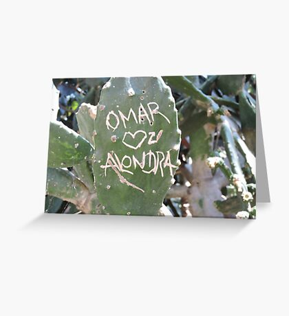 Omar and Alondra Forever Greeting Card