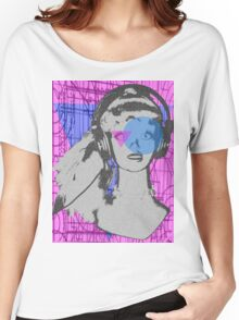 Pop girl goes to geometry class  Women's Relaxed Fit T-Shirt