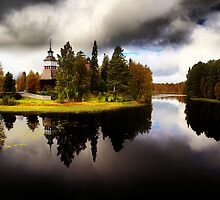 A church by a lake by Juhana Tuomi