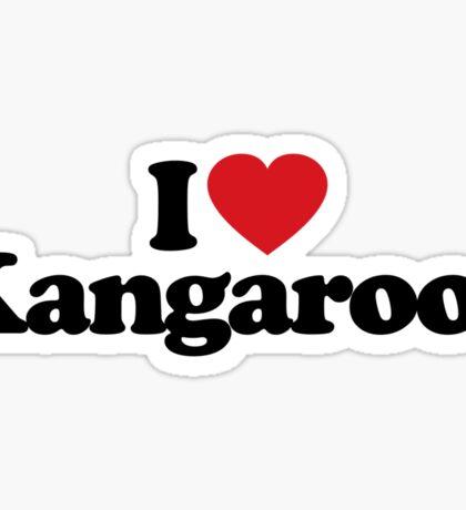 I Love Heart Kangaroos Sticker Sticker